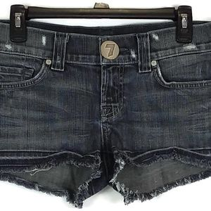 7 For All Mankind Distressed Jeans Shorts size 29